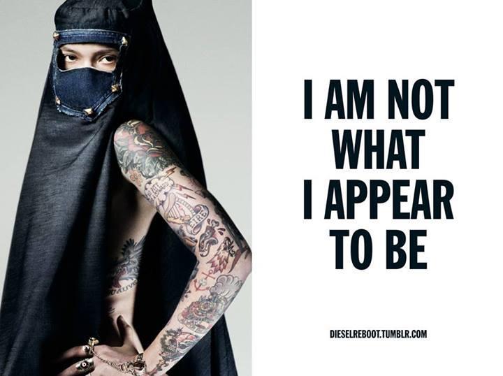 Diesel campagne 2013 burqa jeans