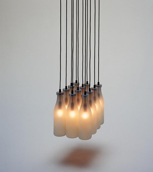 drog design milk bottle lamps chandelier